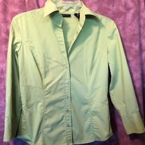 NY & Co green button up top